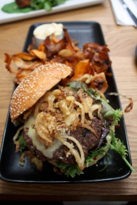 Coffee-rubbed beef burger 18
