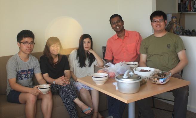 L-R: Dai Wei, Lan Anh, Simin, Julian, Me