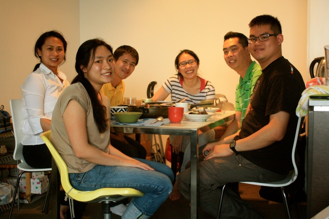 Here we are! L-R: Sumay, April, David, Heidi, Damien, Me