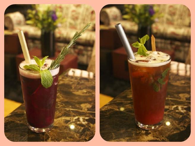 Wildberry Juice (L) & Spice Apple Juice (R)