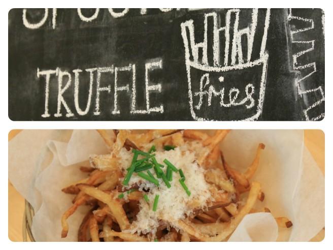 Truffle fries - house cut russet potatoes 8