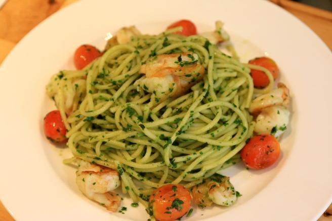 Prawn pesto - homemade basil & spinach pesto 17